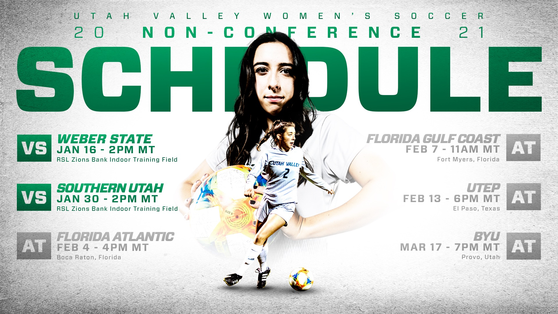 Women's soccer announces 2021 spring non conference schedule