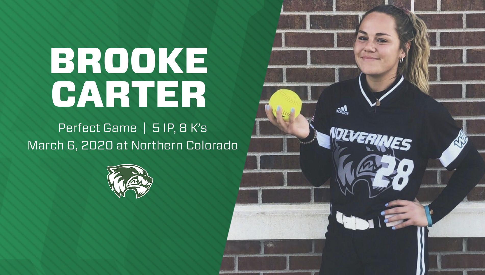 Carter Throws First Perfect Game In Program History Utah Valley University Athletics